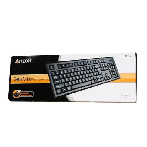 A4 Tech KR-85 Black USB Keyboard with Bangla