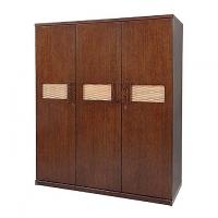 Allex Furniture Wood 3 Palla Almirah AF-WD-A-16