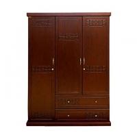 Allex Furniture Wood 3 Palla Almirah AF-WD-A-21