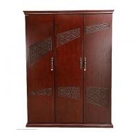 Allex Furniture Wood 3 Palla Almirah AF-WD-A-33