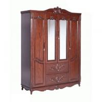 Allex Furniture Wood 4 Palla Almirah AF-WD-A-29