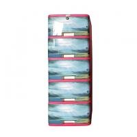 Hamko Plastic Multi Purpose Wardrobe-5 Drawer Print HPF03-02