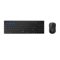 Rapoo 9060 Wireless Black Keyboard & Mouse Combo