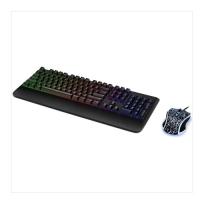 Rapoo V110 Backlit Wired Black Gaming Keyboard & Optical Gaming Mouse Combo