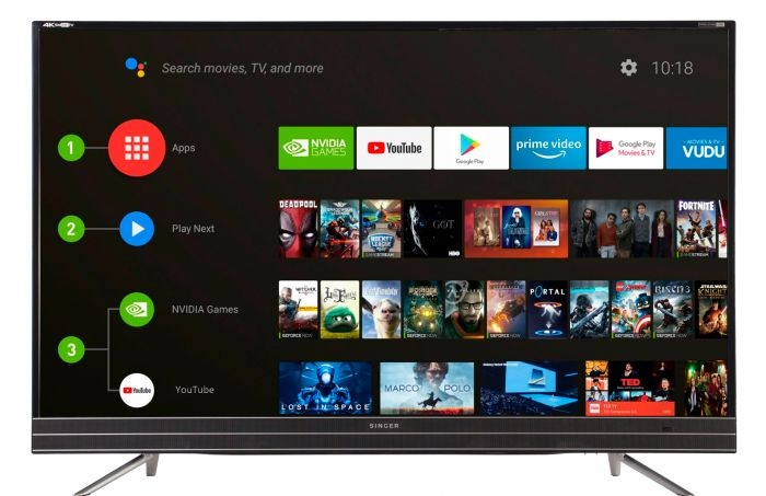 Android Voice Control Smart TV 4K HDR 49