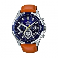 Casio Leather Chronograph Watch For Men EFR 554L 2AV