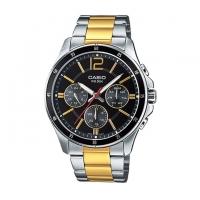 Casio Stainless Steel Chronograph Watch For Men MTP-1374SG-1AV