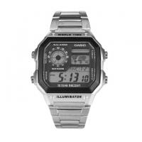 Casio Stainless Steel Digital Watch For Men AE1200WHD-1AV