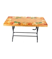 DPL 6 Seat Decorate St/Leg Table Classic Printed SW 82597