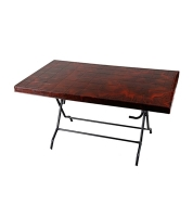 DPL 6 Seat Decorate St/Leg Table Classic Rose Wood 82455
