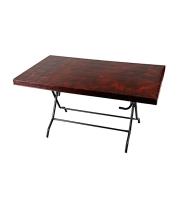 DPL 6 Seat Decorate St/Leg Table Classic Rose Wood 82455