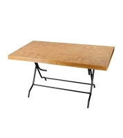 DPL 6 Seat Decorate St/Leg Table Classic Wood 82454