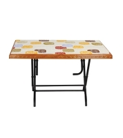 DPL 6 Seated Decorate St/Leg Table -Rose Wood 86255