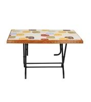 DPL 6 Seated Decorate St/Leg Table -Rose Wood 86255