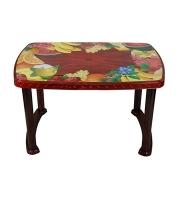 DPL Table 4 Seated Sq Plas Printed Flower 95293