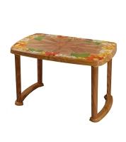 DPL Table 4 Seated Sq Plus Printed Sandal Wood 95290