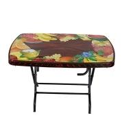 DPL Table 4 Seated Sq St/Leg Printed Rose Wood 86264