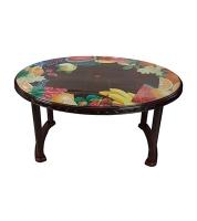 DPL Table 6 Seated Oval Plus Printed Rose Wood 86240