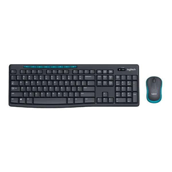 Logitech MK275 Black-Blue Wireless Keyboard & Mouse Combo