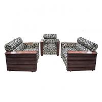 Nurjahan Furniture Box Design Wooden Sofa Set SA-389