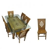 Nurjahan Furniture Canadian Processed Wood Super Design Dinning Set DI 142
