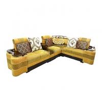 Nurjahan Furniture  Corner Design Wooden Sofa Set SA-403