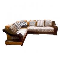 Nurjahan Furniture  Malaysian Processed Wood Corner Design Sofa Set SA-336