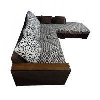 Nurjahan Furniture Malaysian Processed Wood L-Shaped Sofa Set  SA-209