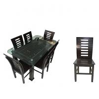 Nurjahan Furniture Malaysian Processed Wood Sater Design Dinning Set  DI-148