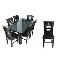 Nurjahan Furniture Malaysian Processed Wood Sater Design Dinning Set DI-151