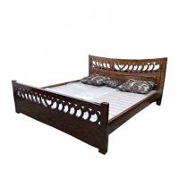 Nurjahan Furniture Stylish Oak Wood Semi-Box Bed  BD-05
