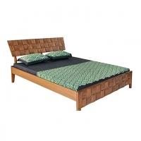 Nurjahan Furniture Stylish Oak Wood Semi-box Bed  BD-13