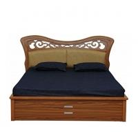 Nurjahan Furniture Stylish Semi-Box Bed BD-36