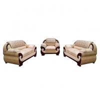 Nurjahan Furniture Wooden Sofa Set with Godi Design  SA-339