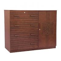 Nurjahan Furniture Wooden Wardrobe WD 25